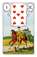 Lenormand card, picture sample, The Cavalier