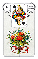 Lenormand card, picture sample, The Bouquet