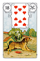 Lenormand card, picture sample, The Dog
