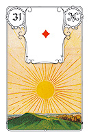 Lenormand card, picture sample, The Sun