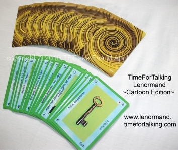 TimeForTalking Lenormand  -  Cartoon Edition -  sample cards, front and back