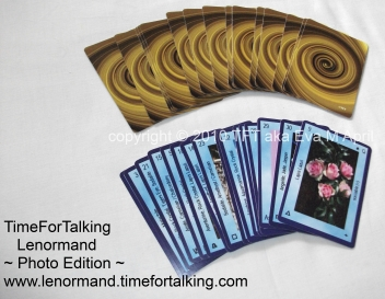 TimeForTalking Lenormand  - Photo Edition -  sample cards, front and back