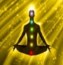 Chakra Guides - learn how to use chakra stones. Photo of the chakra points on a person's silhouette.