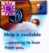 Help and assistance is available .... awaiting to hear from you. Whenever you are ready to place a booking, simply go the shop page. For navigation of the webpage, just use the buttons on top of each page. Photo of planets and clouds, stating these words.