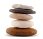 Psychological Life Coaching - will assist you to get rid of fears and worries to find balance and peace in your life. Photo of 5 stones placed on top of each other, having found true balance.