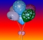 Party Bookings - host a card reading party for a fun, insightful mystical party. You will receive a free reading. Photo of a bunch of balloons.